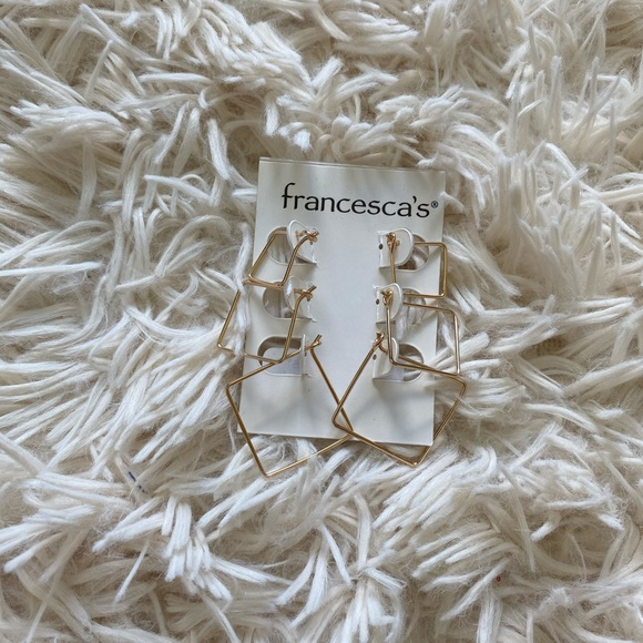 Francesca's Collections Jewelry - Francesca's Square Hoop Earrings